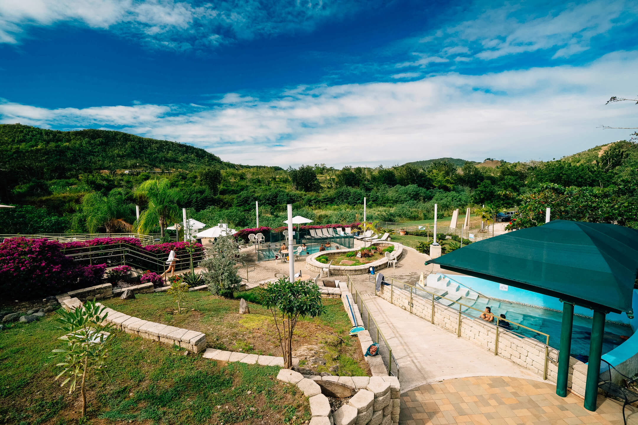 Coamo's beautiful and popular hot springs.