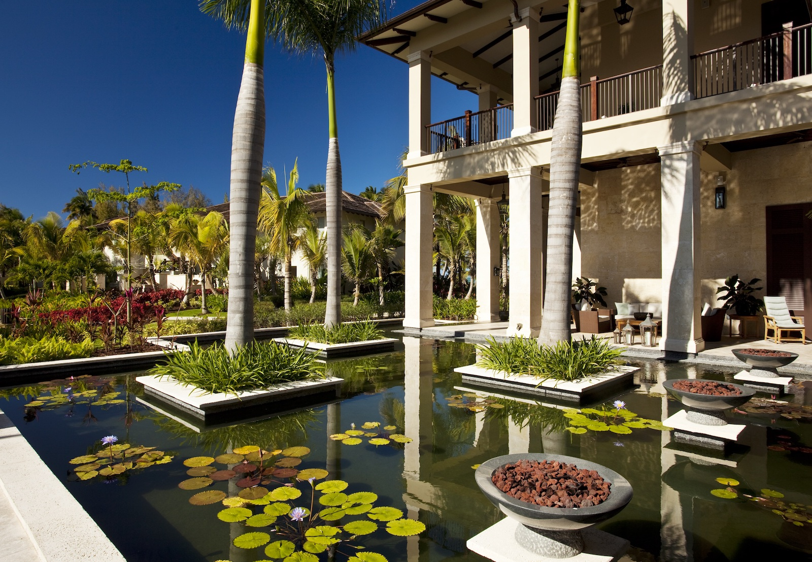 The breathtaking gardens of the St. Regis Bahia Beach Resort.