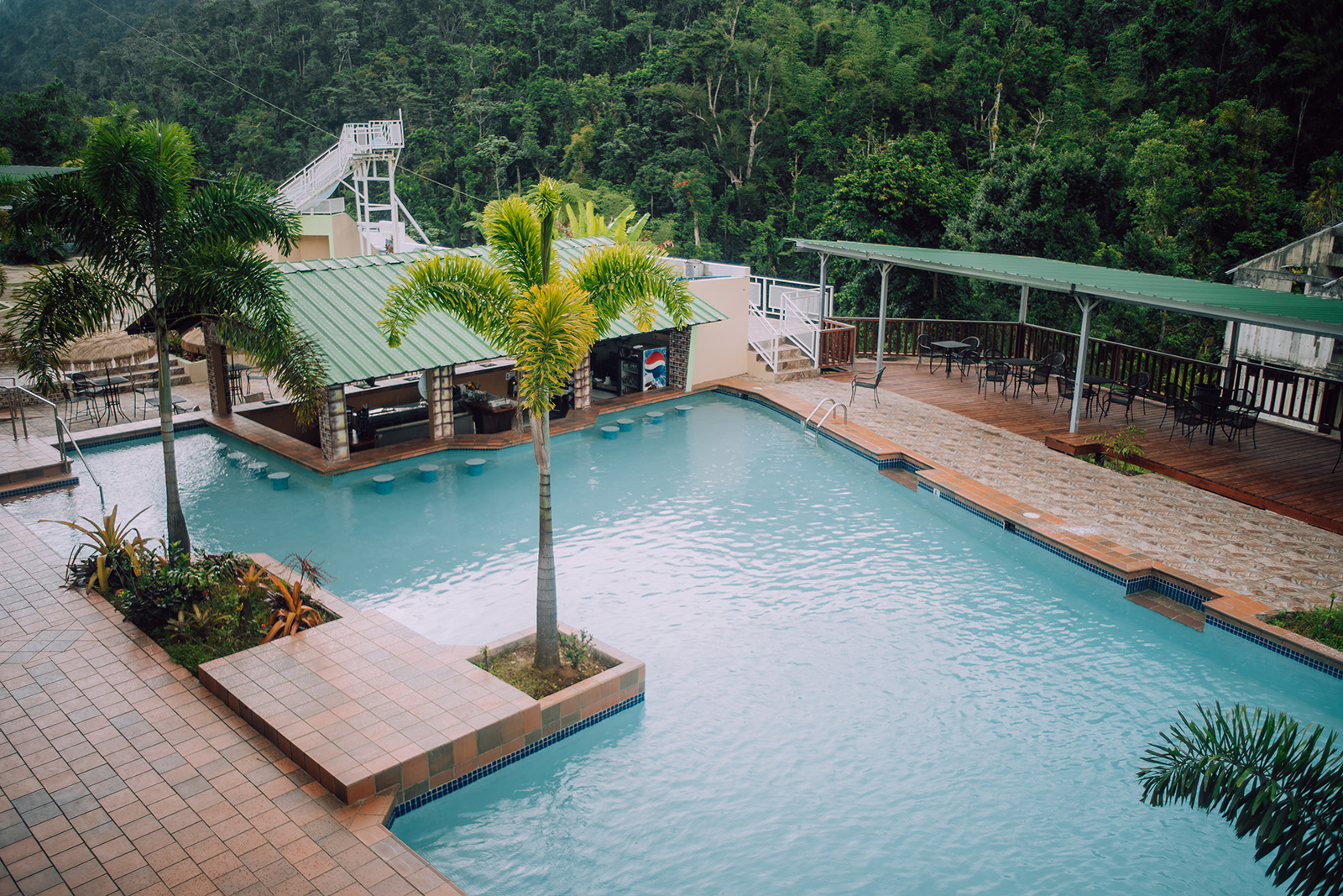 Pool view of Hacienda Negrón in Ciales