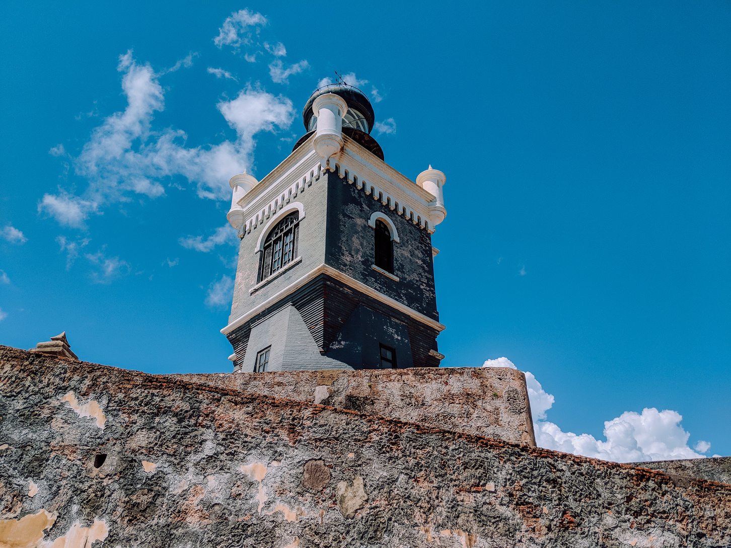 The lighthouse tower at El Morro
