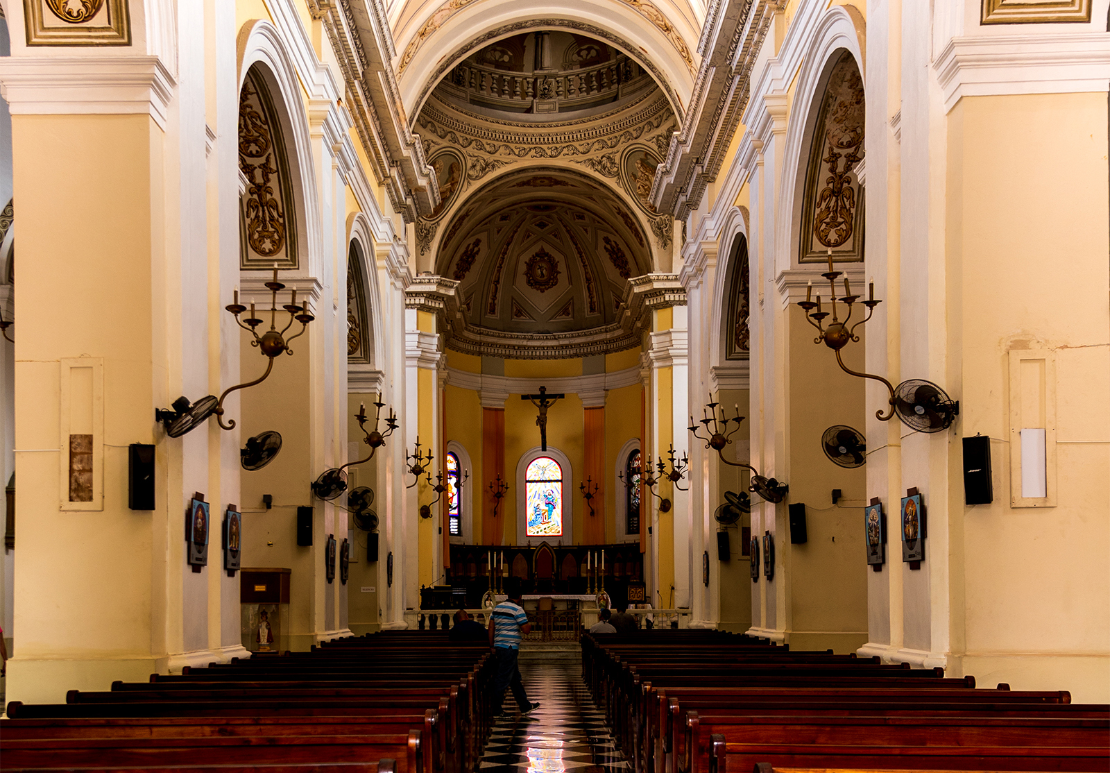 the awe-inspiring interior of the cathedral in Old San Juan