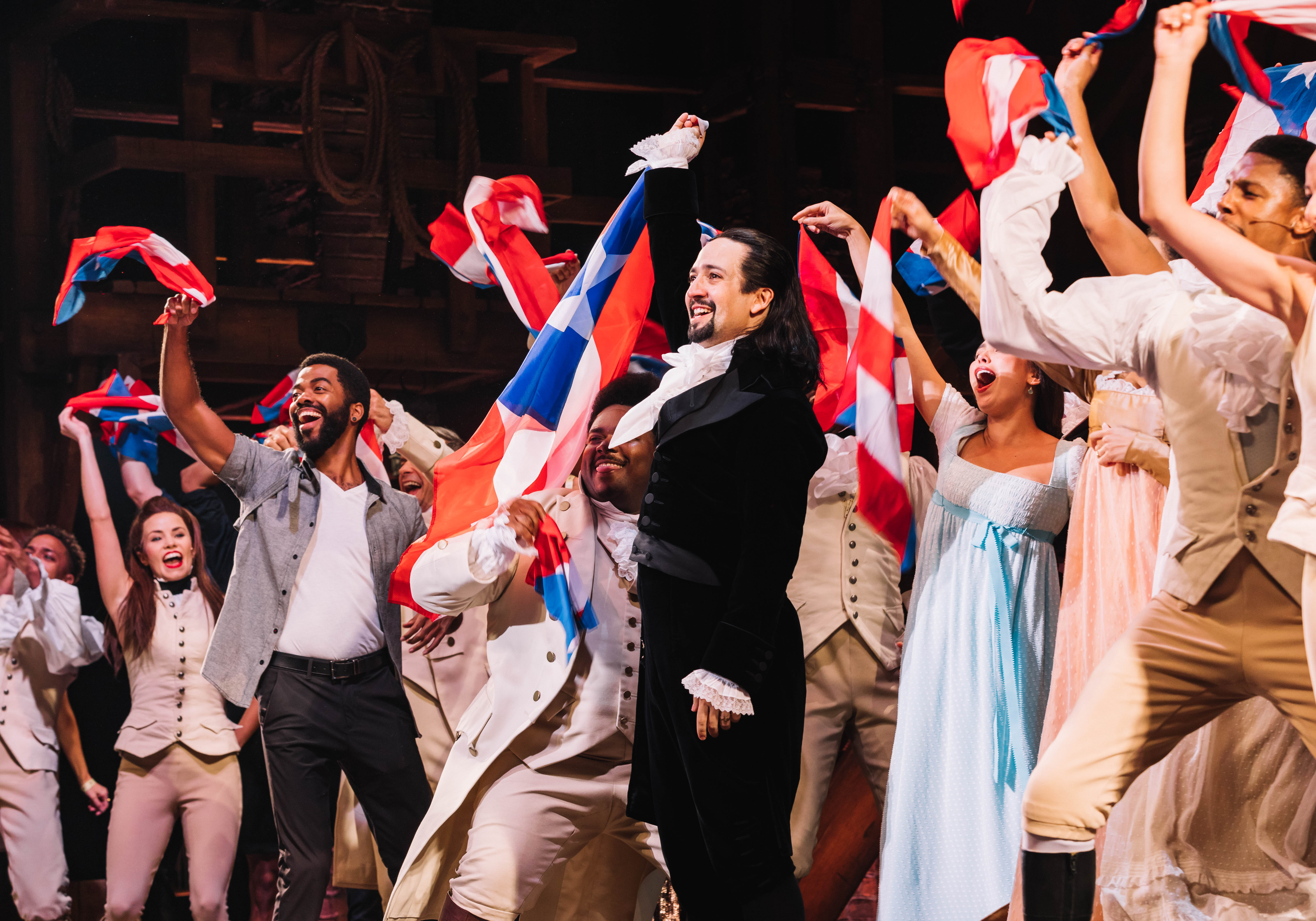 Lin-Manuel Miranda on the closing night of Hamilton in Puerto Rico