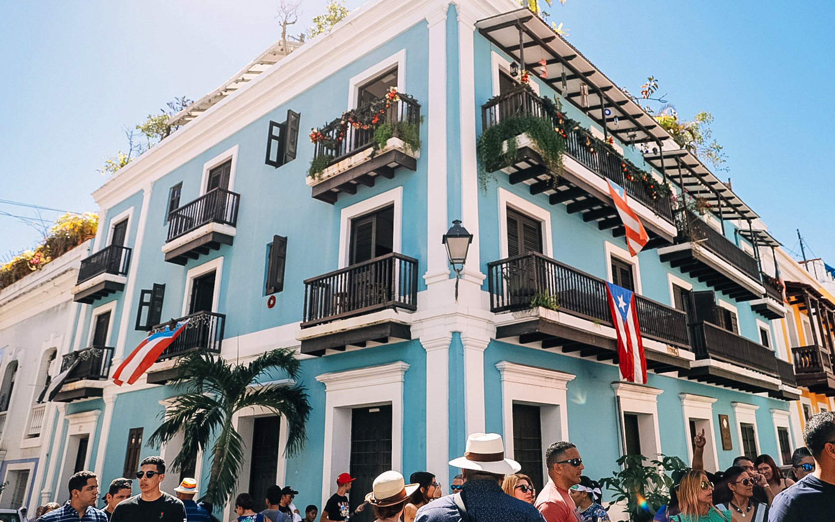 Holiday season in Old San Juan.
