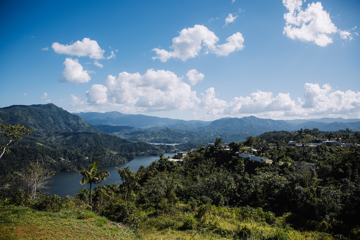 Panoramic view from Finca Viernes in Utuado.