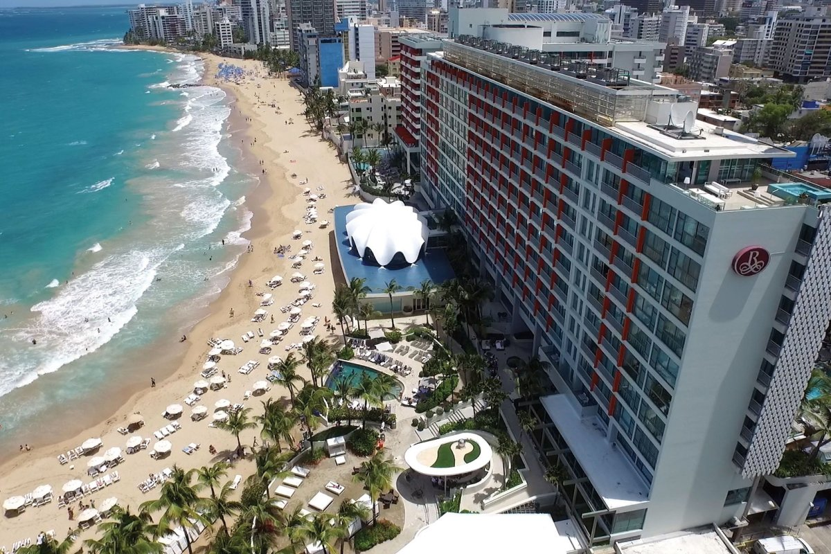La Concha Renaissance Resort is nestled up against the beach of the Condado district.