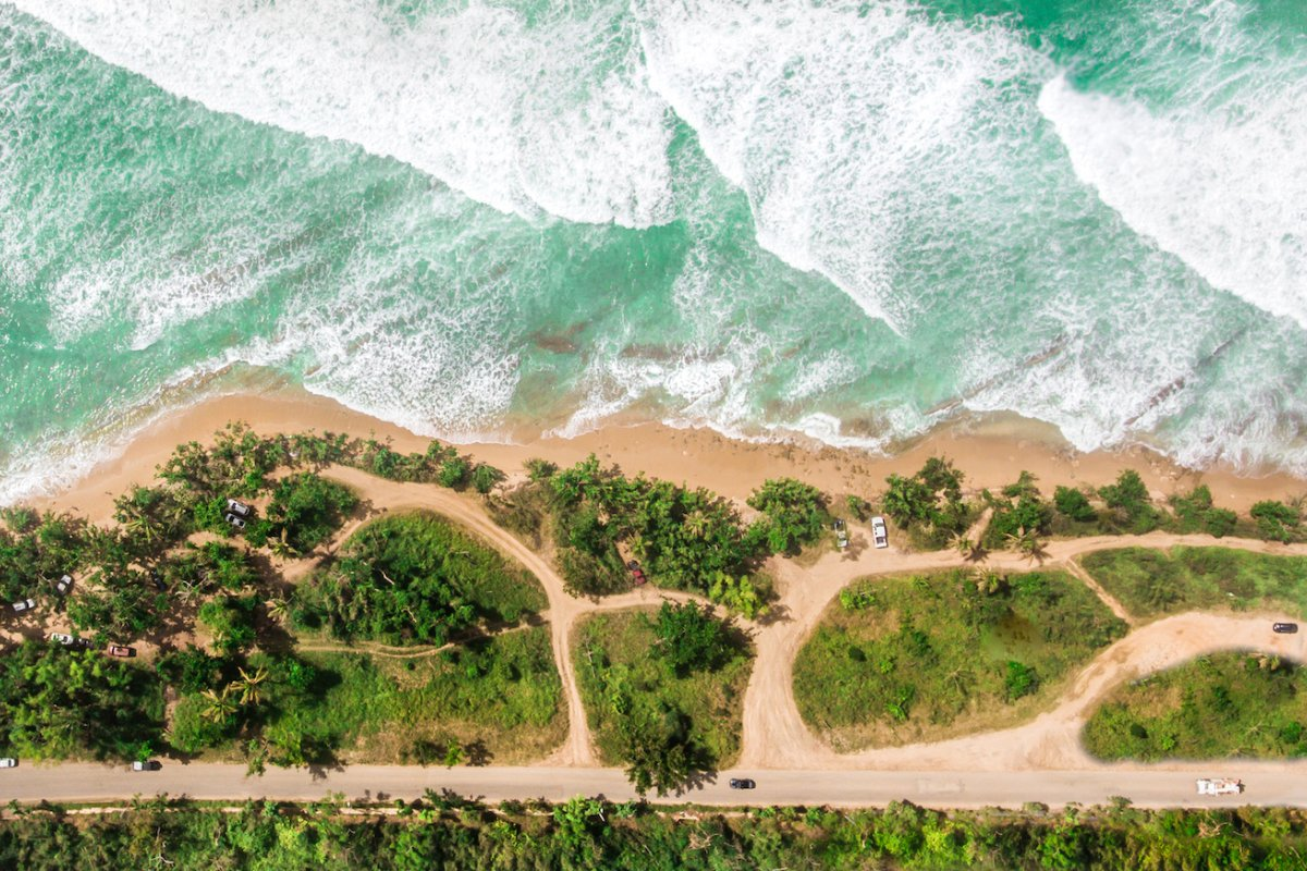 Aerial view of Marias Beach.