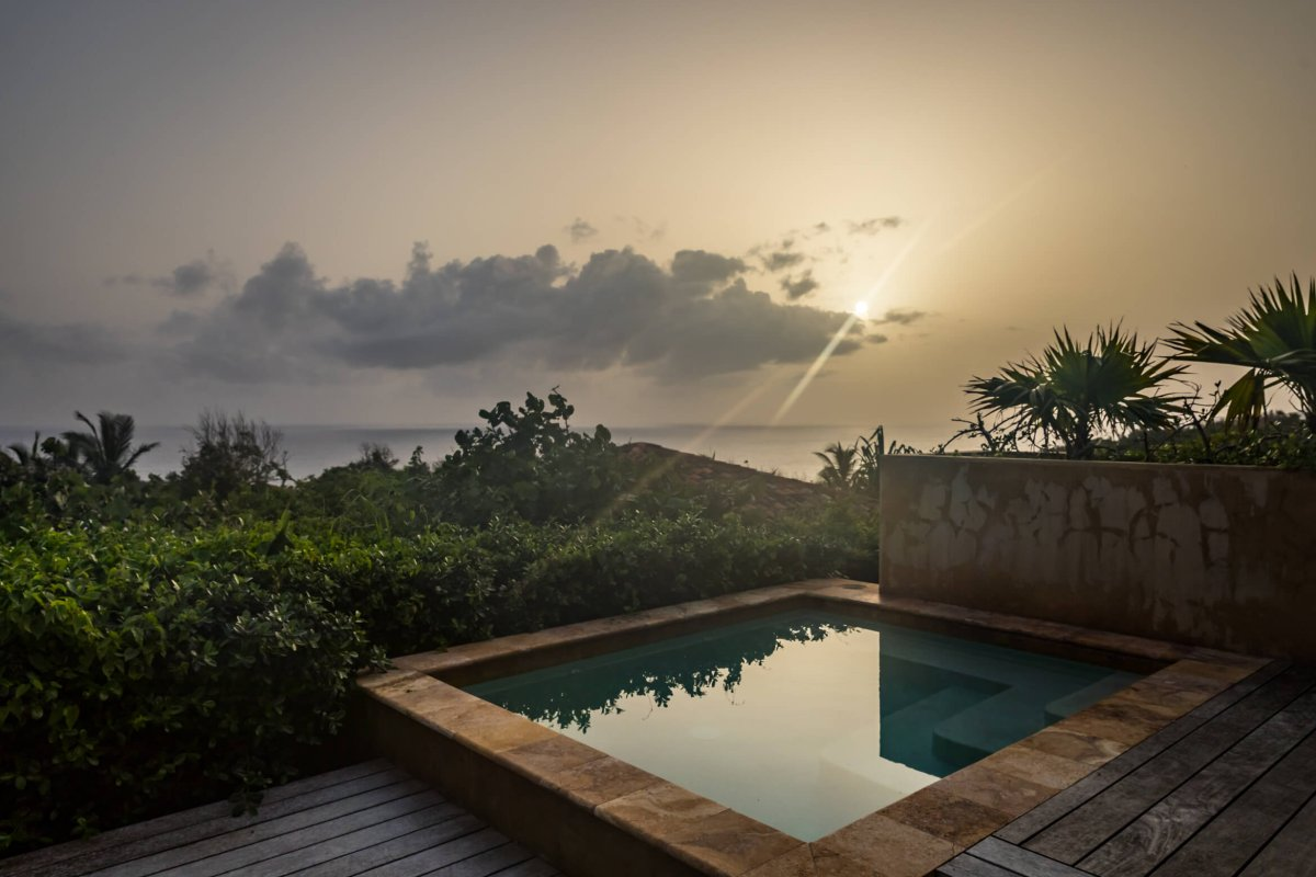 Dramatic ocean views from the pool terrace of the Royal Isabela.