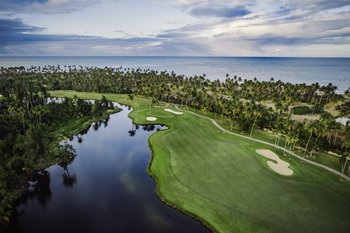 Aerial view of the St Regis Bahia Beach Resort & Golf Club.
