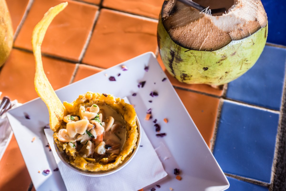 Enjoy local mofongo on a tour from the Spoon Food Tour company.