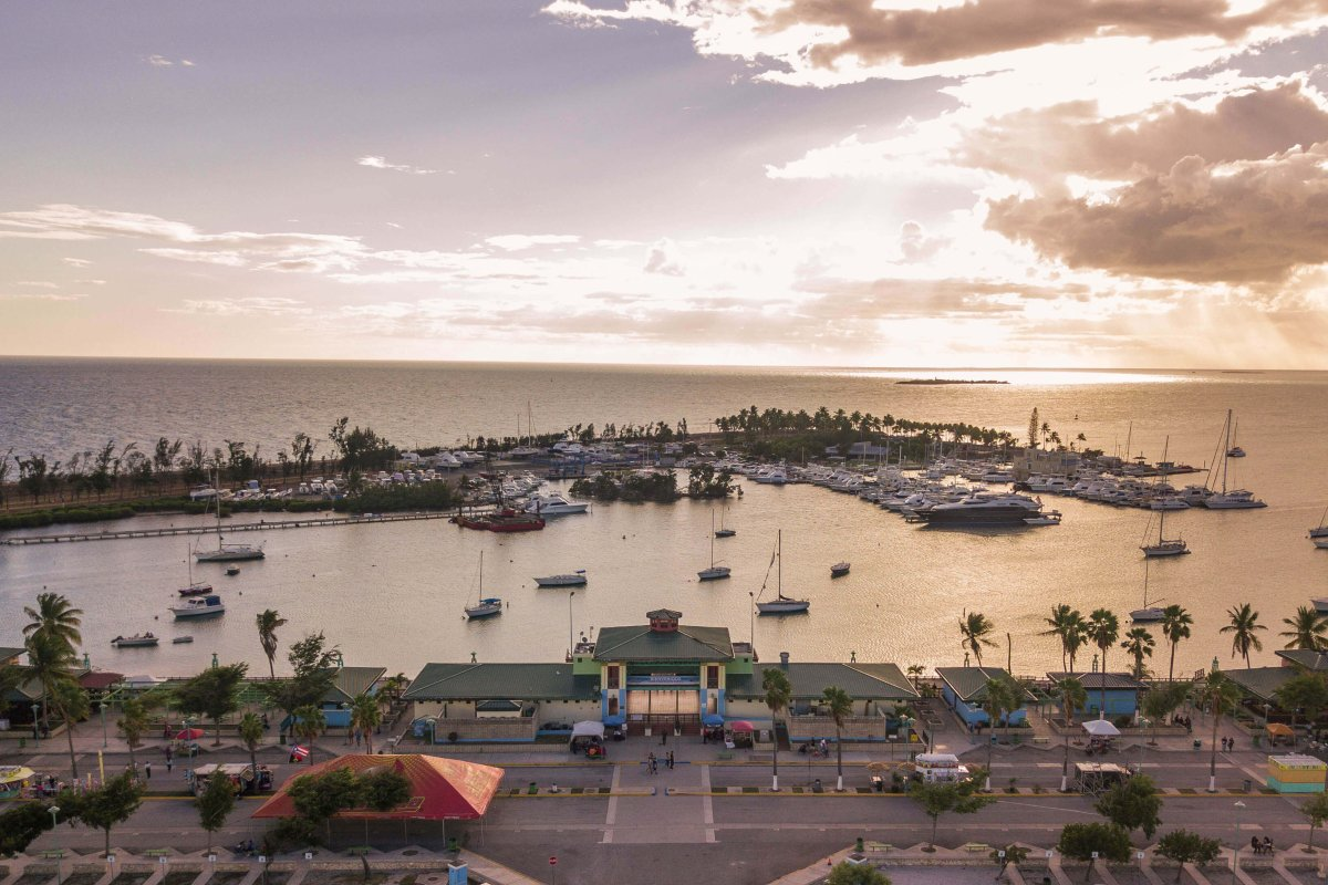 La Guancha at sunset in Ponce
