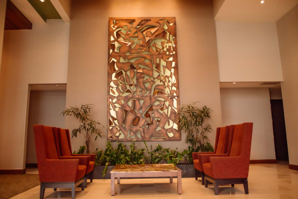 lobby view of the Hyatt Place Hotel and Casino in Manatí.
