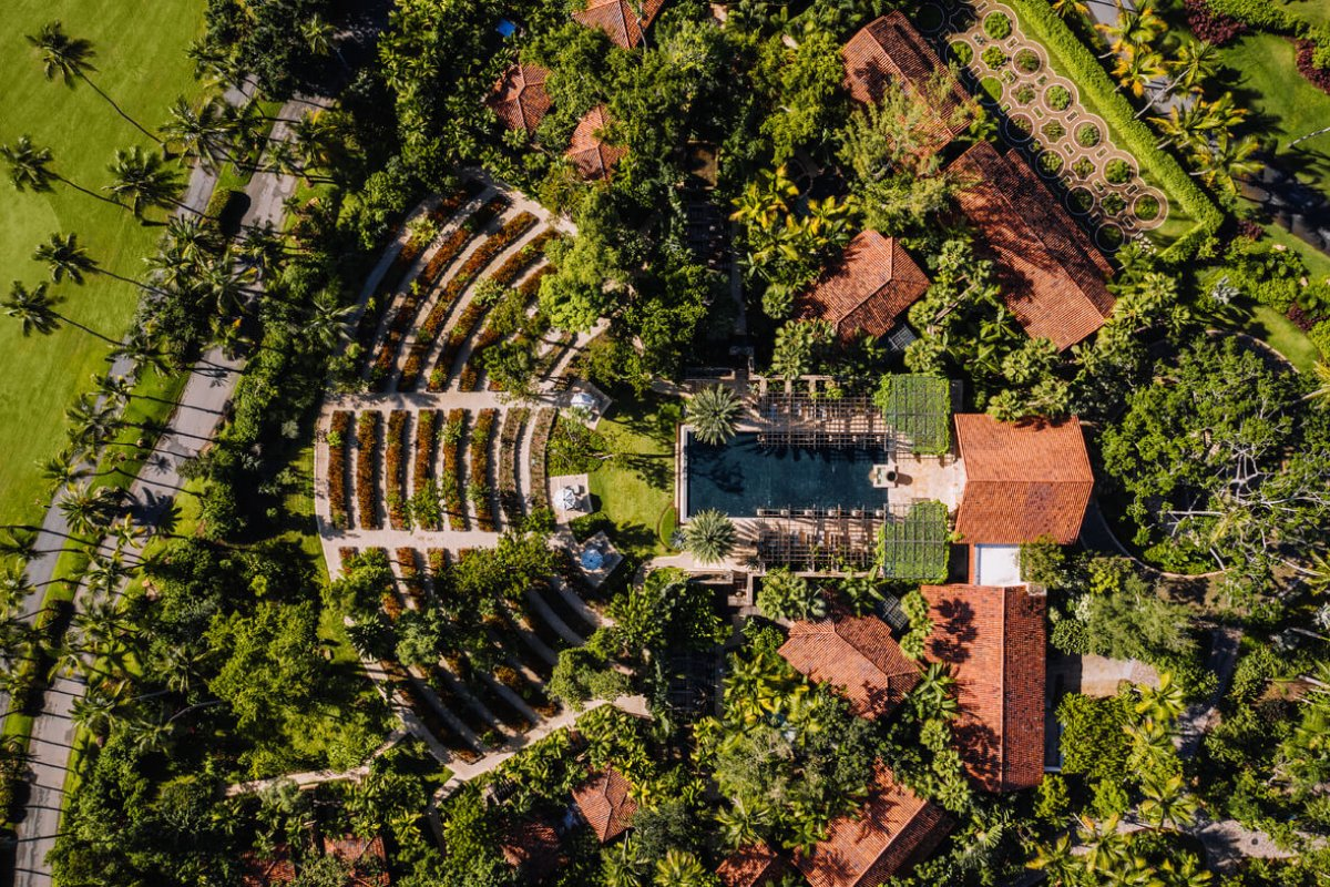 Aerial view of Spa Botanico at Dorado Beach, a Ritz-Carlton Reserve