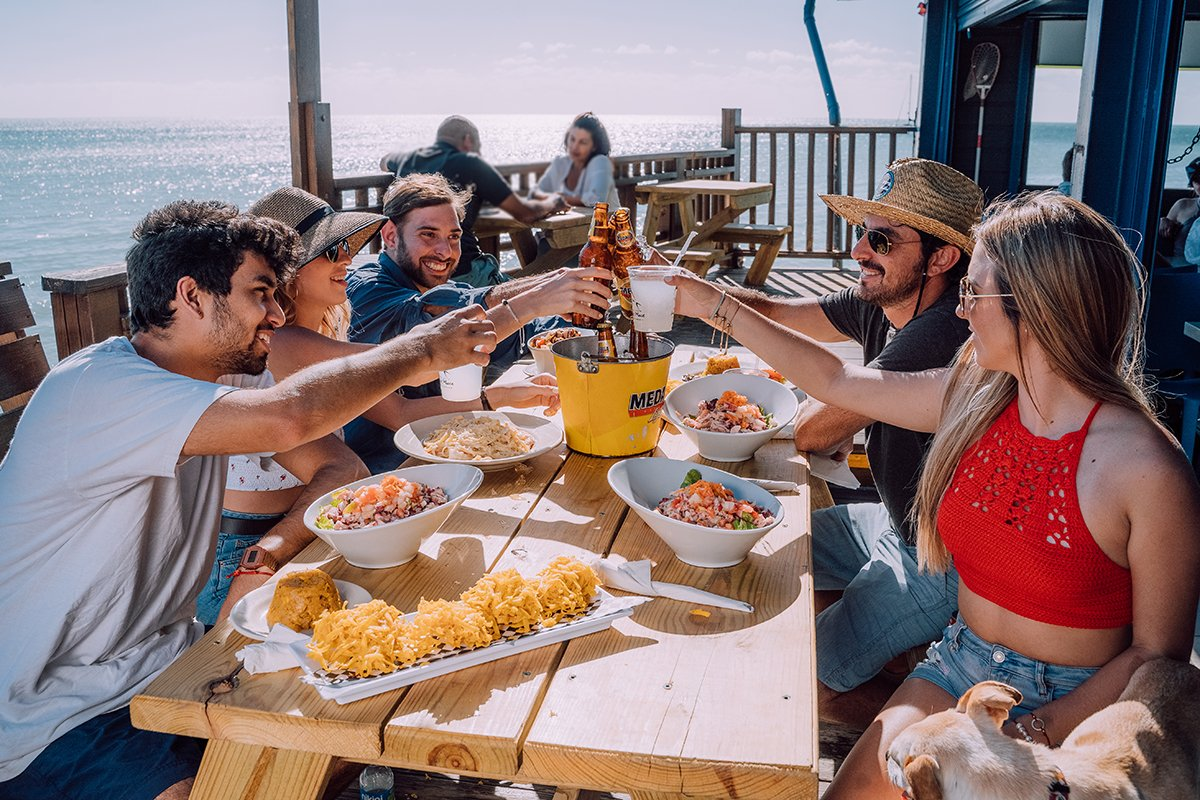 Friends enjoy lunch at Annie's Place in Cabo Rojo