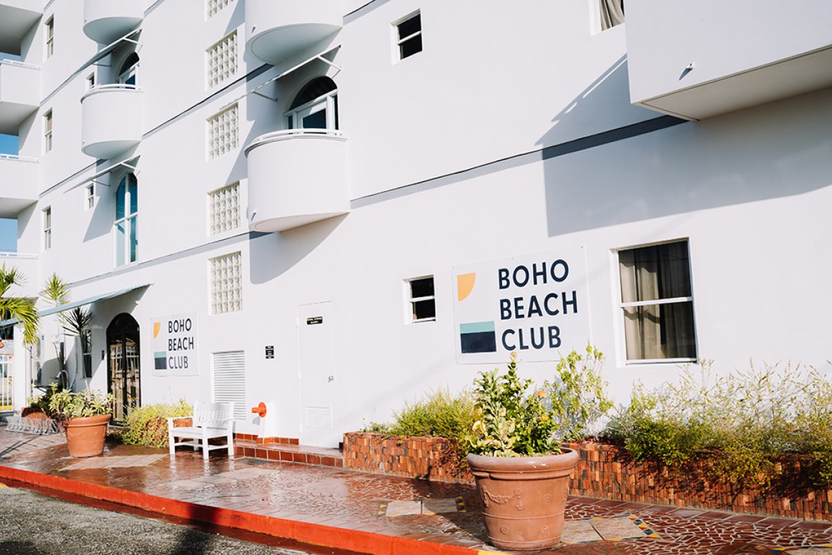Entrance at Boho Beach Club
