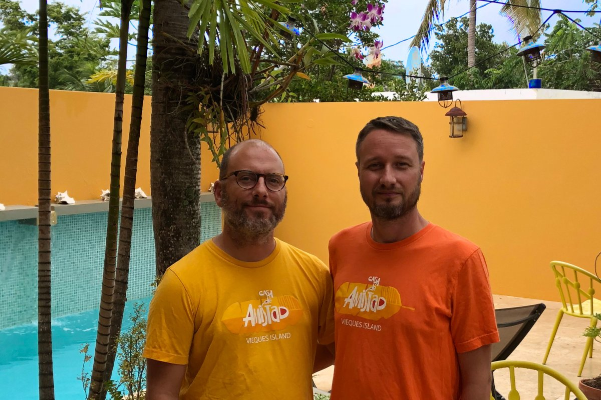 John and Mike, owners of Casa Amistad