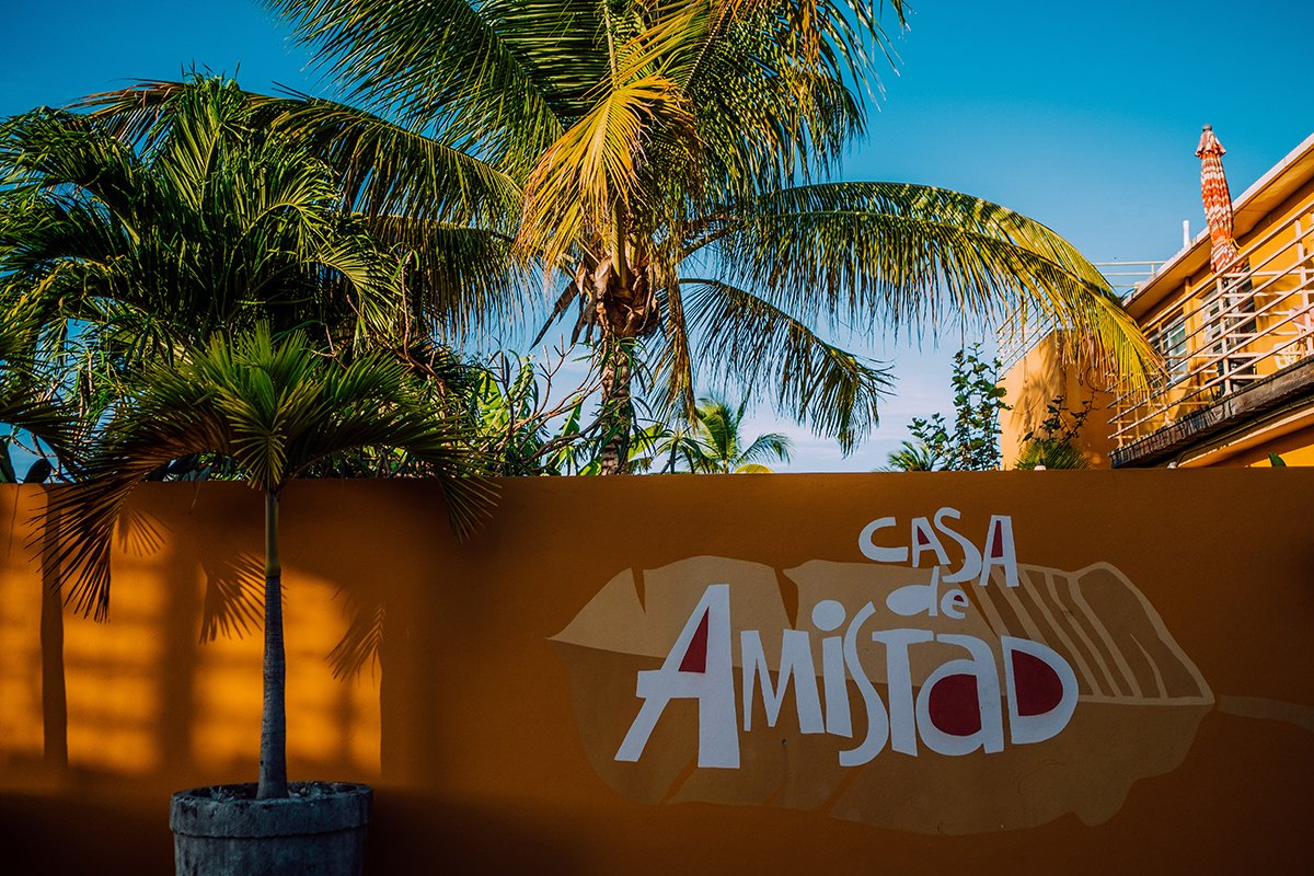 Outside view of Casa de Amistad in Vieques