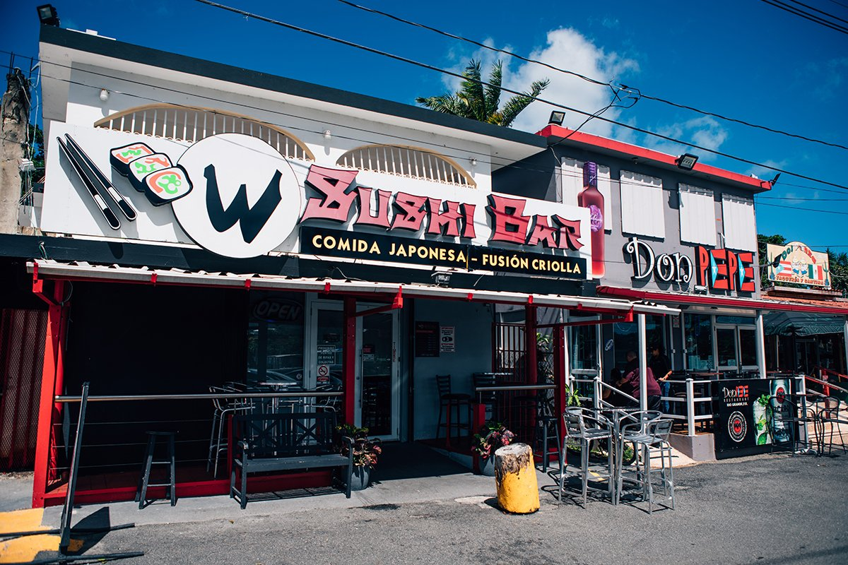 The W Sushi bar and Don Pepe are right next to each other.