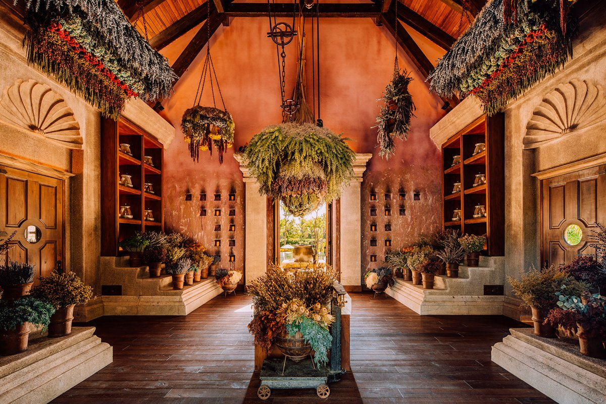 Interior view of Dorado Beach's Botanical Spa.