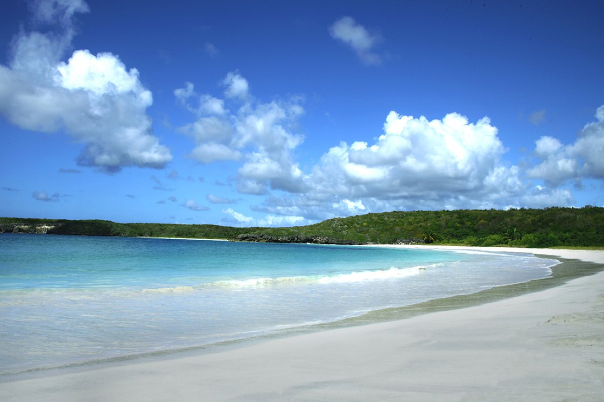 View of the pristine Red Beach in Vieques.