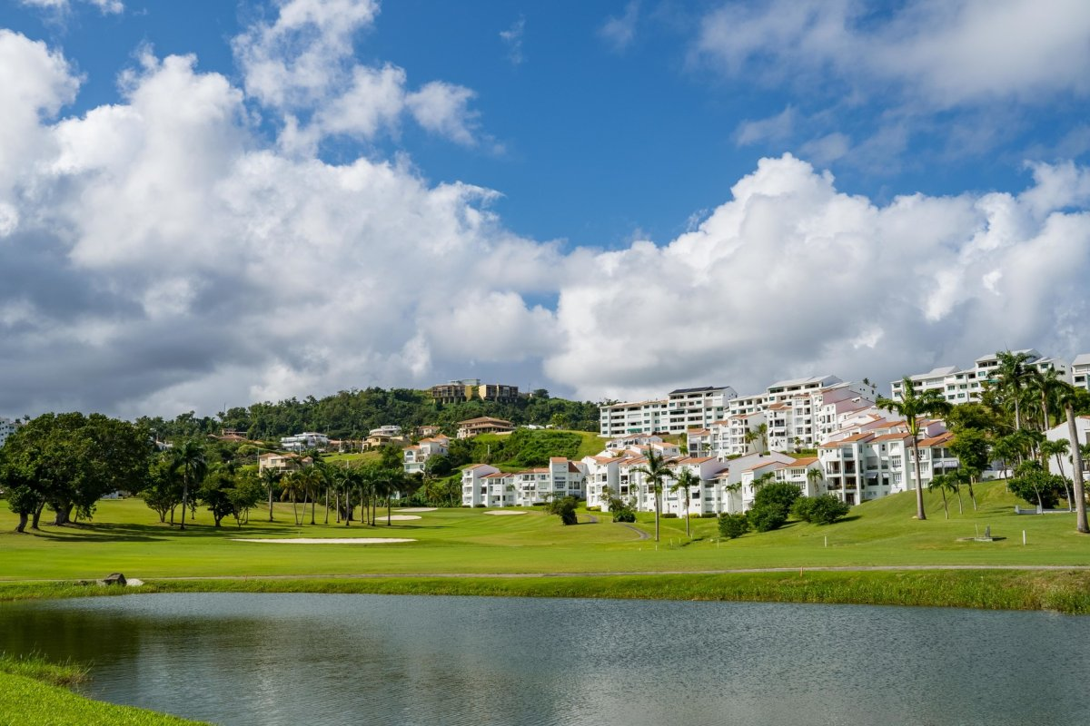 the peaceful and scenic grounds of the Wyndham Grand Rio Mar