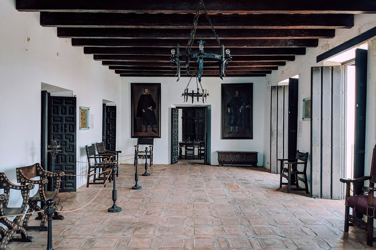 Inside view of Casa Blanca, a 1520s mansion built for Juan Ponce de León's family.