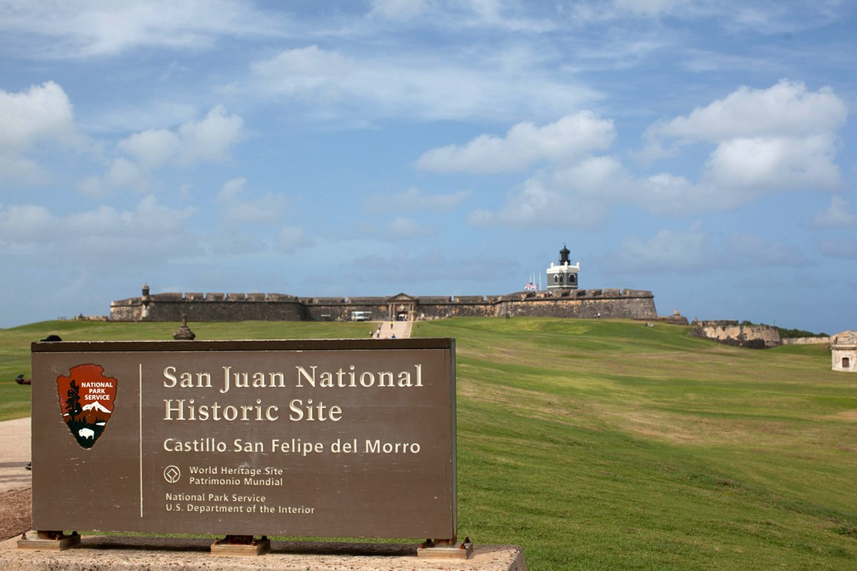 View of the San Juan National Historic Site's entrance.