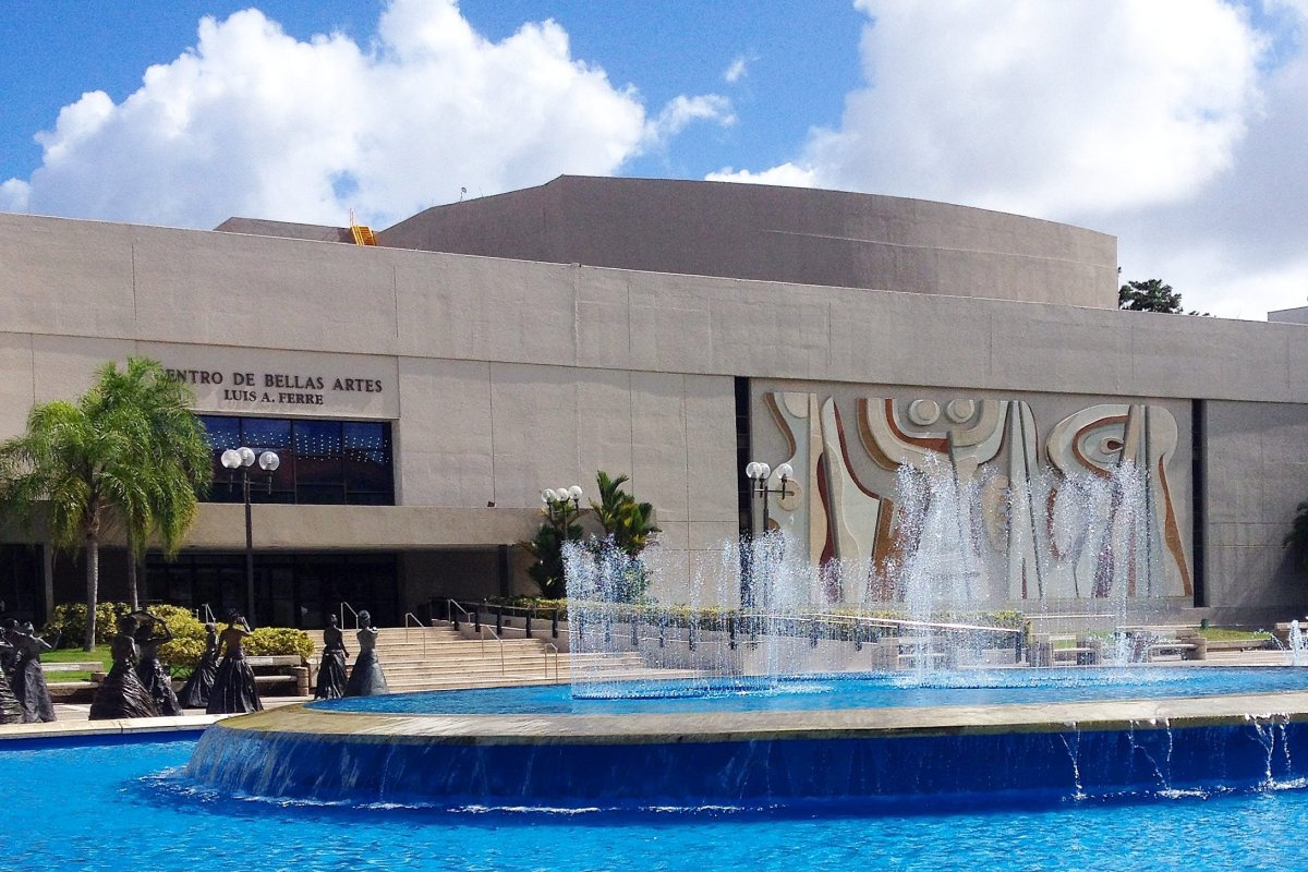 Front view of the Luis A. Ferré Performing Arts Center