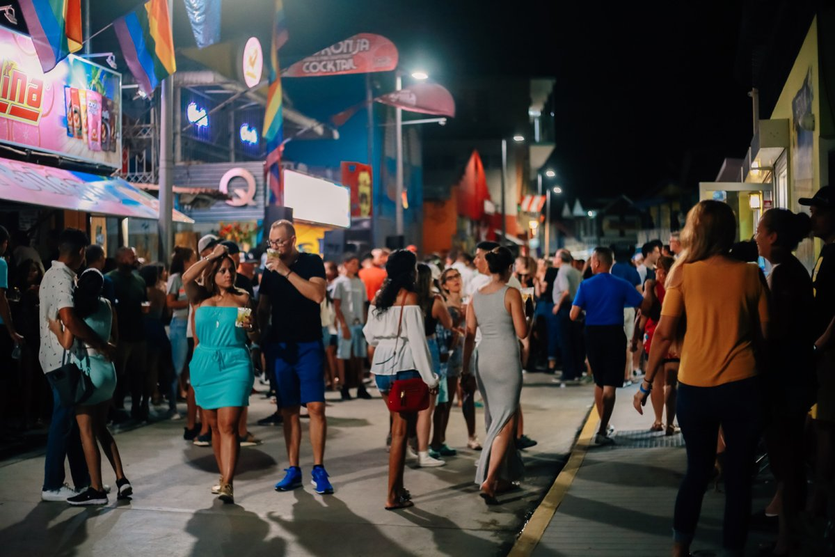 Nightlife in Boquerón, Cabo Rojo.