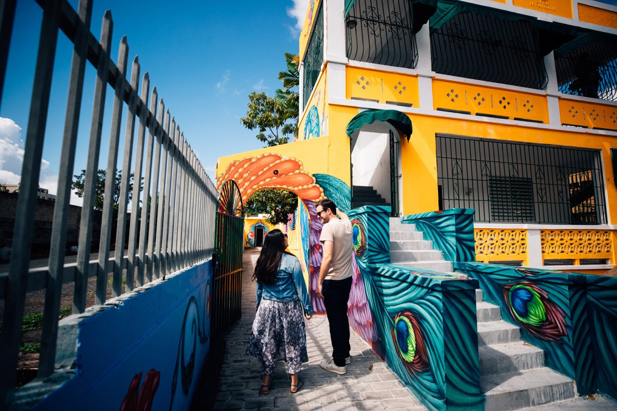 Colorful murals at Santurce es Ley.