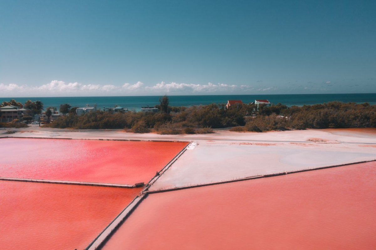 View of Cabo Rojo's salt flats.
