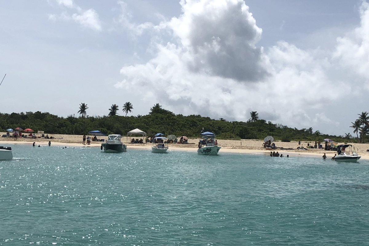 View of catamarans at Icacos.