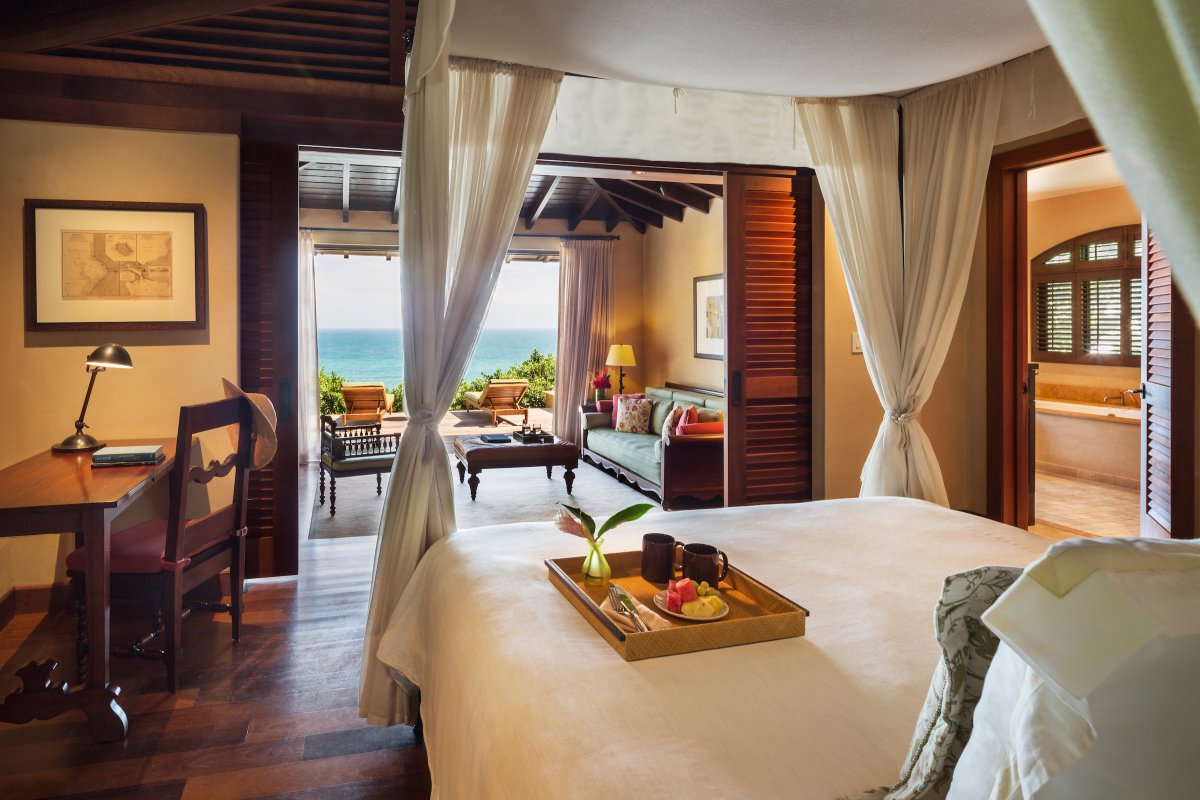 View of a luxury suite at the Royal Isabela.
