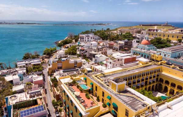 Aerial view of Old San Juan