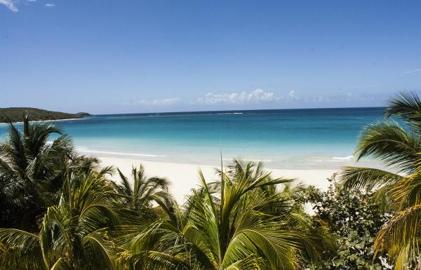 View of Flamenco beach in Culebra.