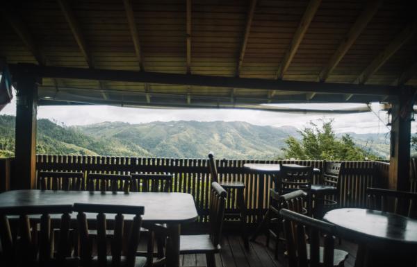 The mountain views from the Roka Dura Wine and Grill restaurant