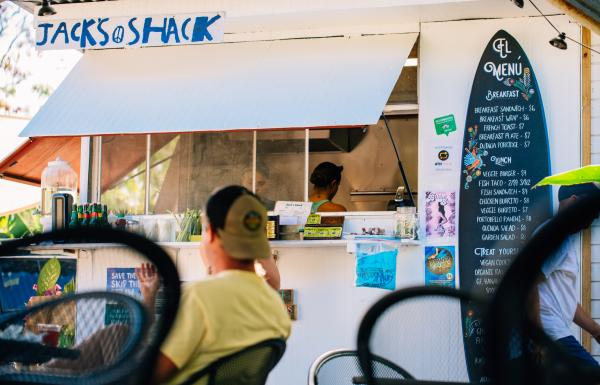 Fresh beachside eats at Jack's Shack in Rincón.