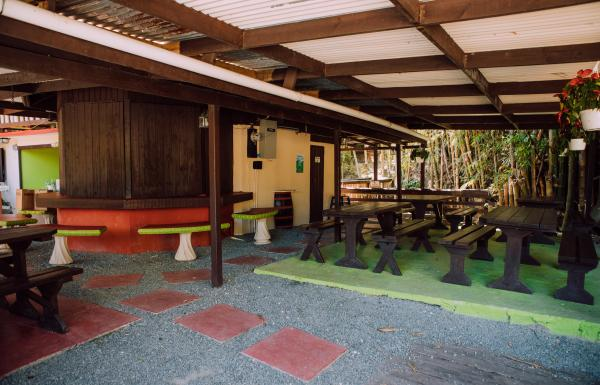 The interior of Las Tortugas in Utuado