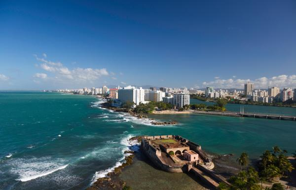 Condado view from Old San Juan