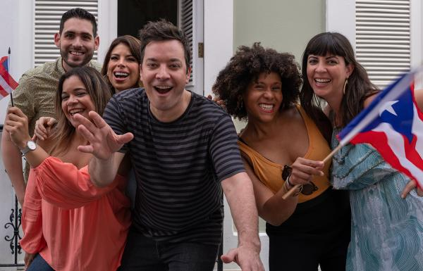 Jimmy Fallon is all smiles in Puerto Rico
