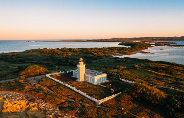 Aerial view of Los Morillos lighthouse