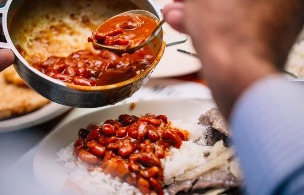 Red beans and rice is a staple dish, but you'll find lots more options as well.