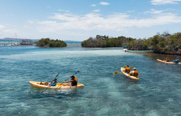 Kayaking at La Parguera in Lajas.