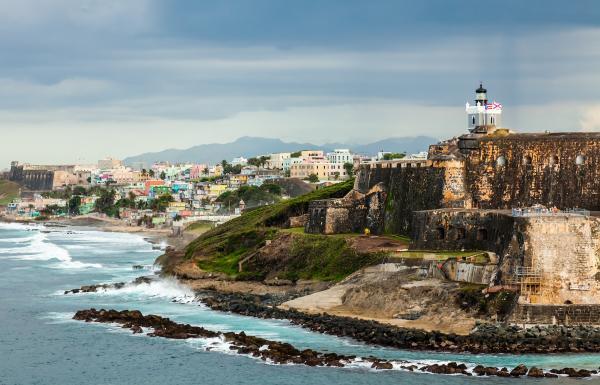 Puerto Rico bleu foncé Puerto Rician Caraïbes Spanish Latino 5X8 Rough Tex ® 68D