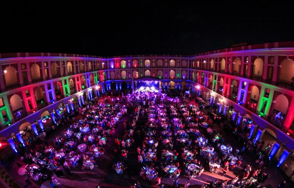 : Private group dinner party in Cuartel de Ballajá.  Event production design and coordination by Group Services Inc.