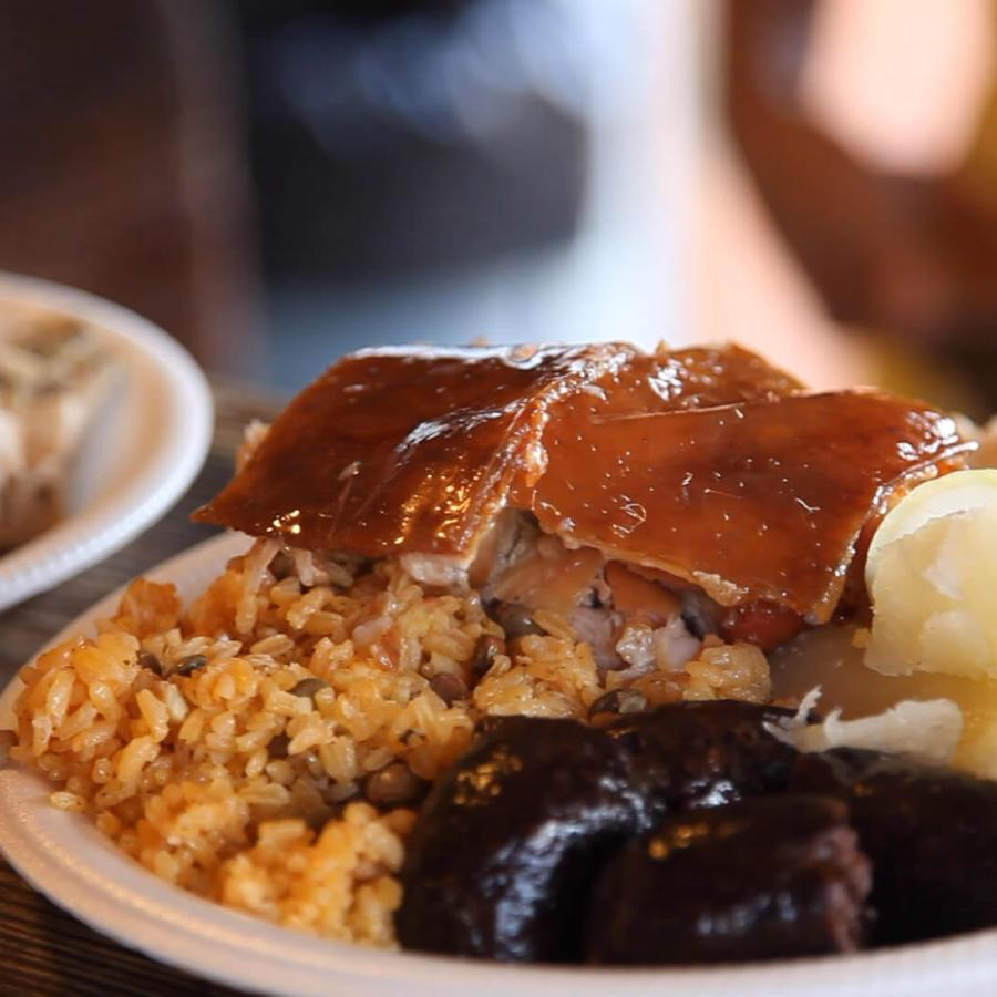 Guavate, part of the town of Cayey in the center of the island, is well known for its lechoneras, outdoor eateries specializing in slow-roasted pork.