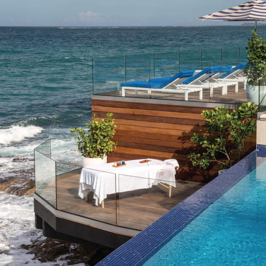 Over the ocean spa treatment at the Spa at the Condado Vanderbilt Hotel.