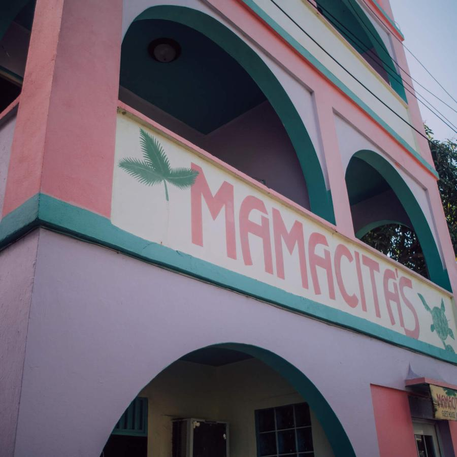 Exterior view of Mamacita's Guesthouse in Culebra.