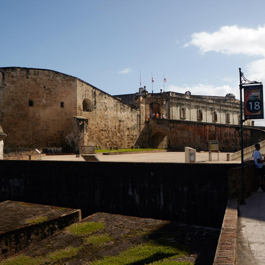 Outside view of the Castillo San Cristóbal in Old San Juan.