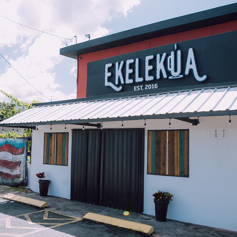 outside view of Ekelekua Restaurant
