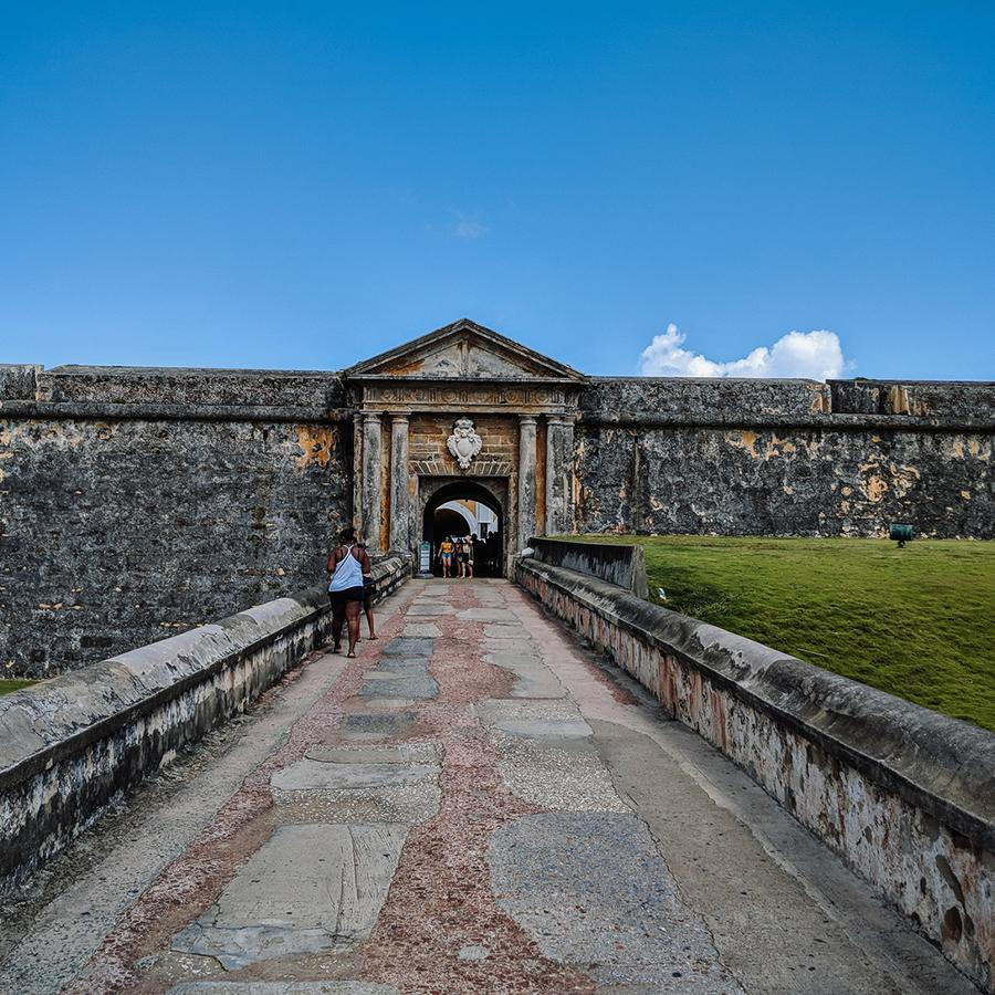 Front view of El Morro in Old San Juan.